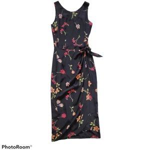 Vintage SIlk Maggy London Faux Wrap Dress